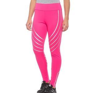 NWT Electric Yoga Pink Reflective Metallic Legging